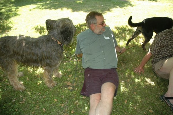 denny-relaxing-with-dogs