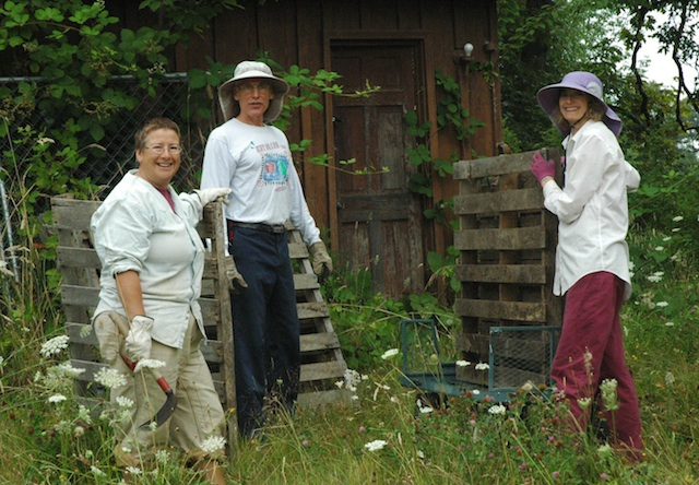 building new compost bins