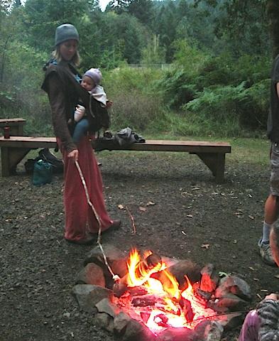 Campfire is a favorite Saturday night ritual.
