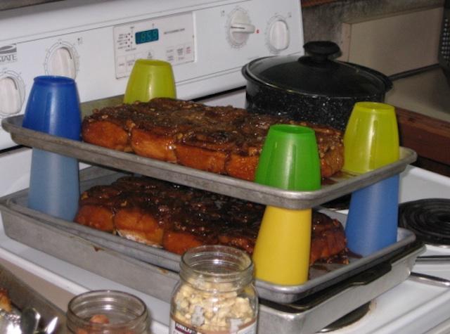 A retreat tradition--cinnamon rolls!