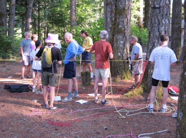 Rope-tying workshop
