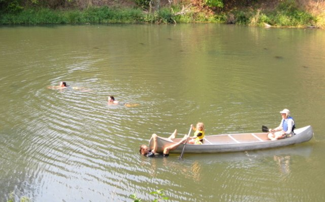 Wonderful warm weather for boating and swimming...