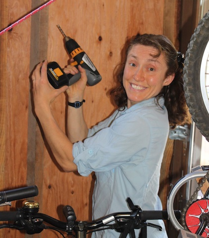 You can add hooks to hang even more bikes in the Bike Barn.