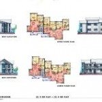 Open PDF file of Building 2 elevation and floor plan