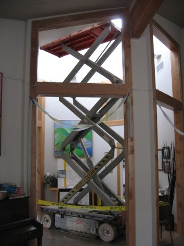If the pole/net didn't work, the lift used to install the solar art is an option!!!