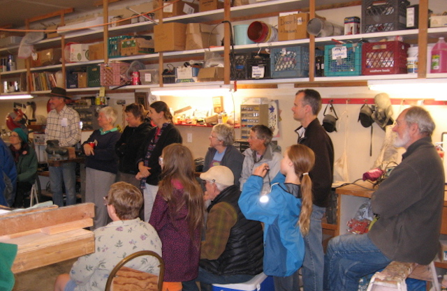 Folks listened intently to a series of safety tips