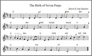 Birth of Seven Cheeps song